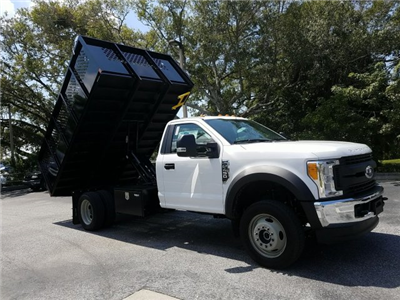 2017 F-450 Regular Cab DRW 4x4, Landscape Dump #HEC11106 - photo 4