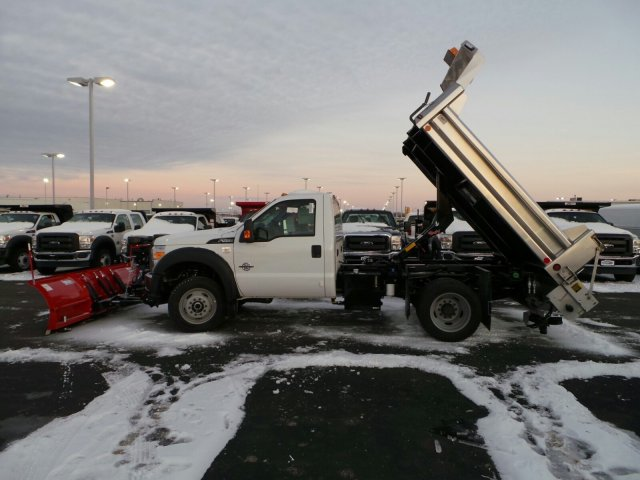 2014 F-550 Regular Cab DRW 4x4, Rugby Dump Body #EA55828 - photo 5