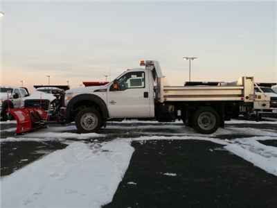 2014 F-550 Regular Cab DRW 4x4,  Rugby Eliminator LP Stainless Steel Dump Body #EA55828 - photo 3