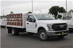 2018 F-350 Regular Cab DRW 4x2,  Scelzi Western Flatbed Stake Bed #F20860 - photo 1