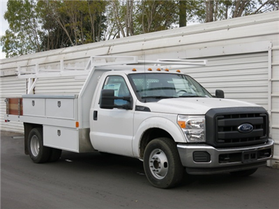 2015 F-350 Regular Cab DRW, Harbor Contractor Body #F343939 - photo 2