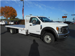 2017 F-550 Regular Cab DRW 4x4, Scelzi Flatbed #50616 - photo 1