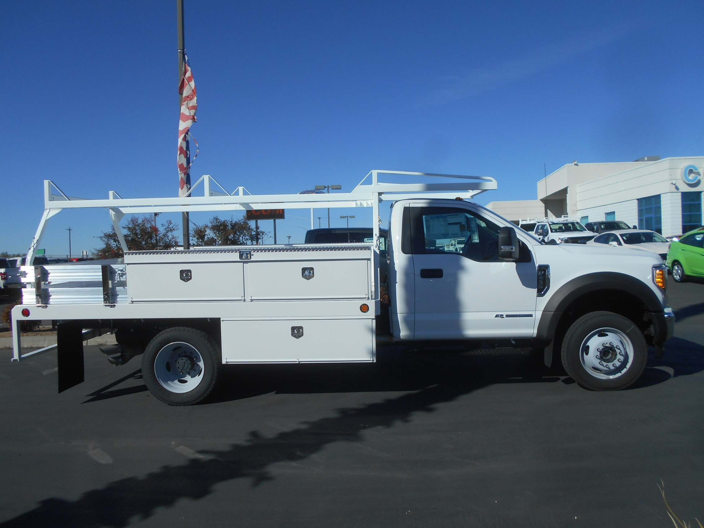 2017 F-450 Regular Cab DRW 4x4, Scelzi Contractor Body #52027 - photo 4