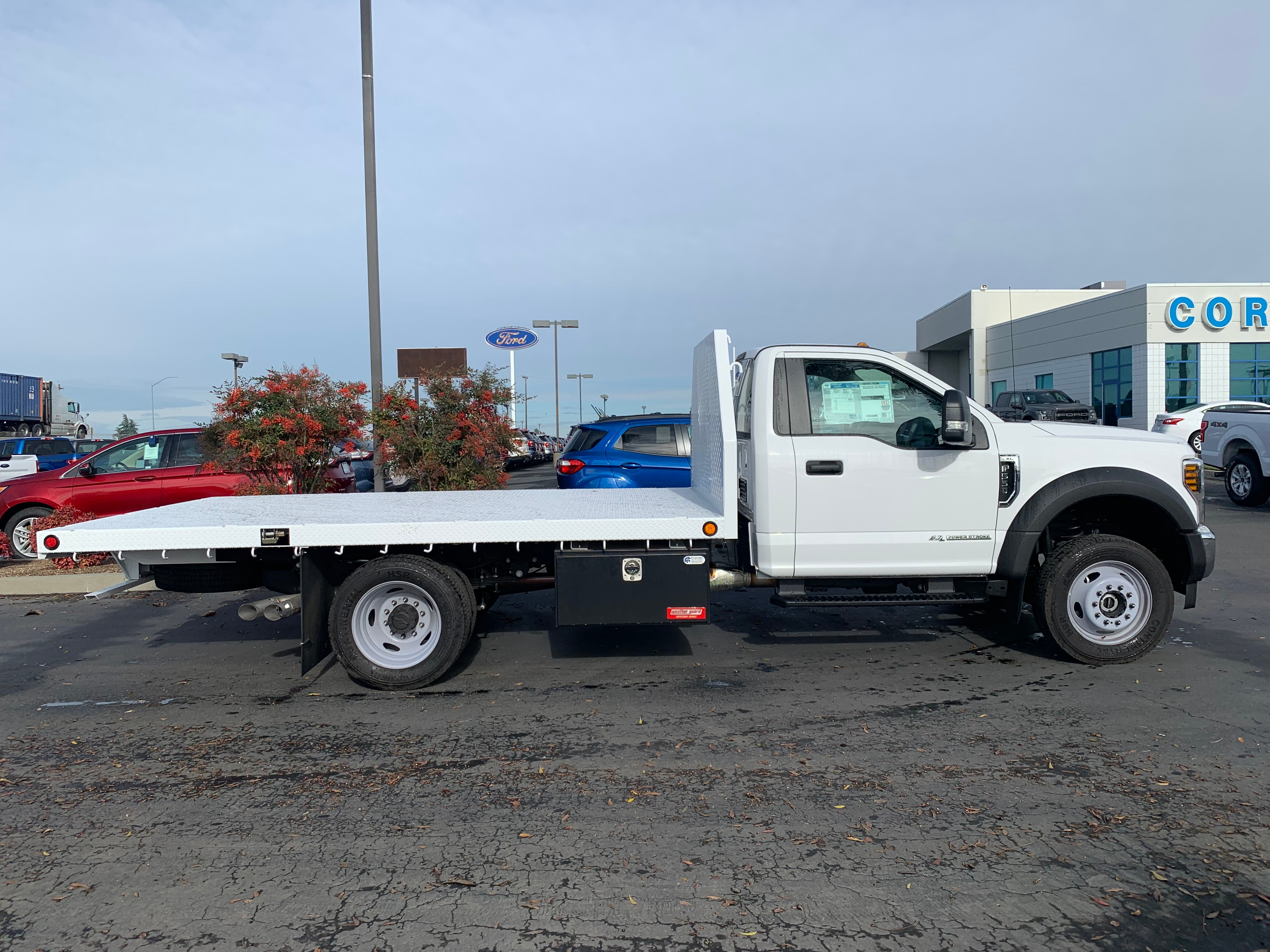 2018 F-550 Regular Cab DRW 4x4,  Enoven Truck Body & Equipment Flatbed #53756 - photo 7