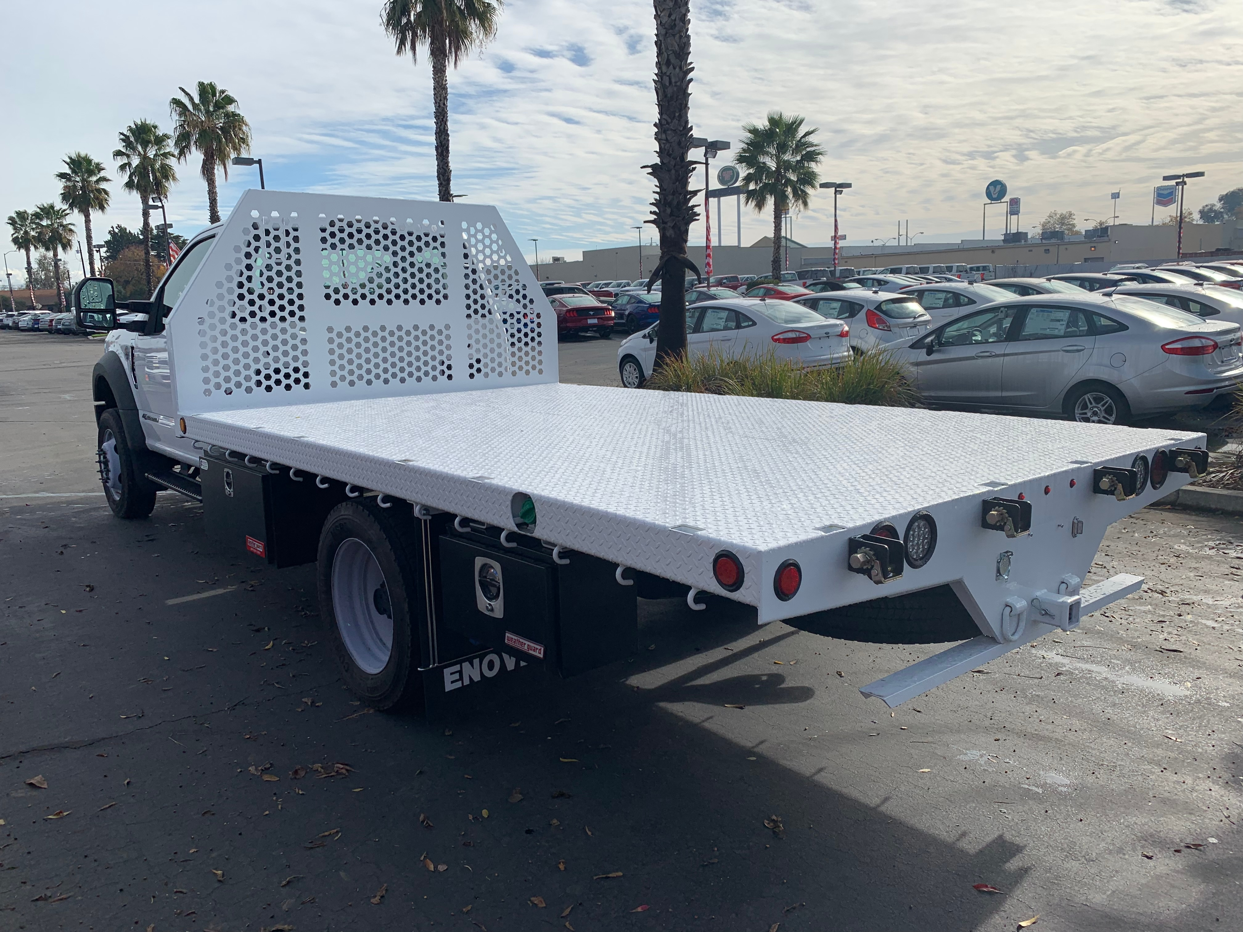 2018 F-550 Regular Cab DRW 4x4,  Enoven Truck Body & Equipment Flatbed #53756 - photo 2