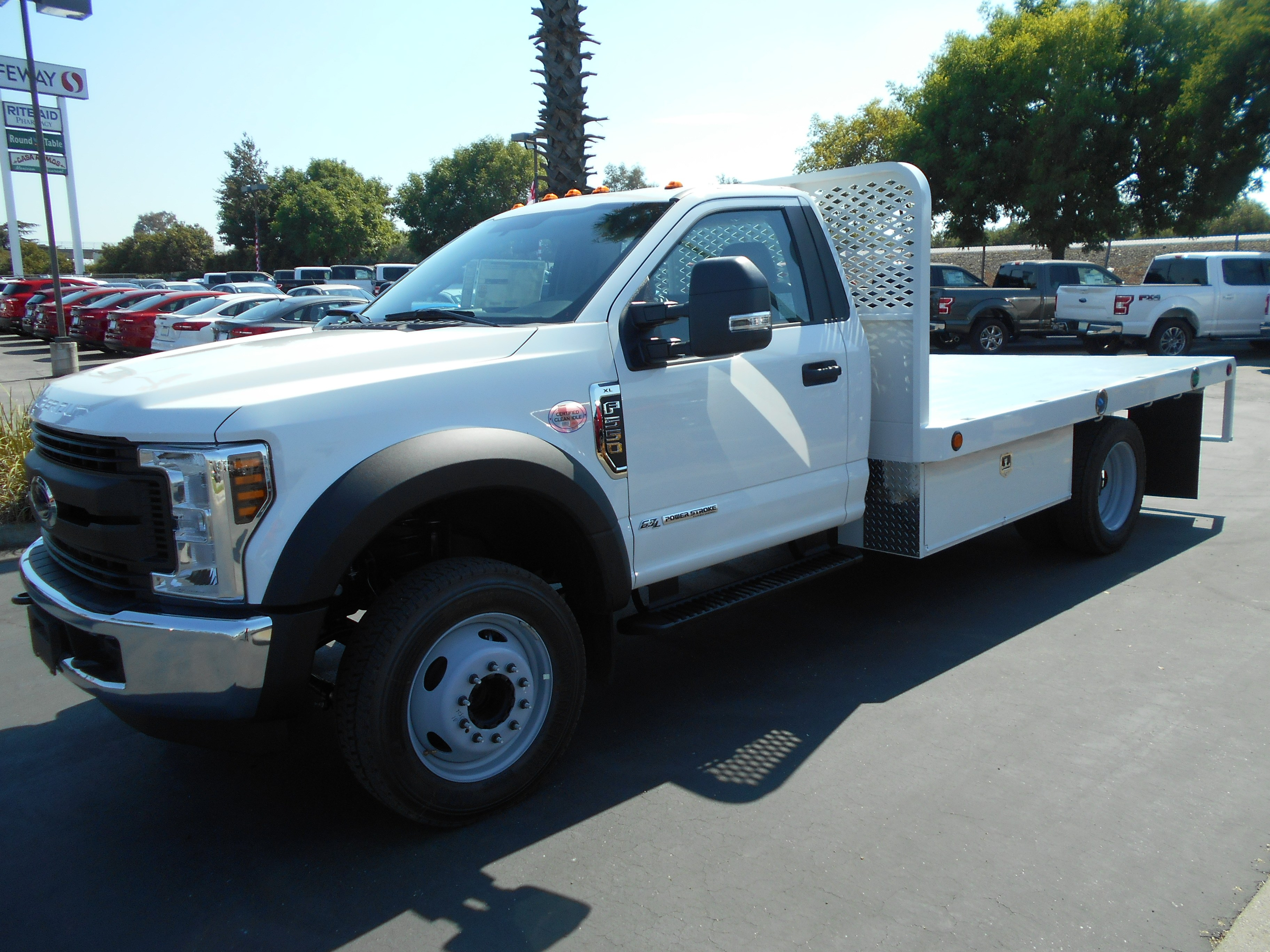 2018 F-550 Regular Cab DRW 4x2,  Scelzi WFB Flatbed #54037 - photo 1