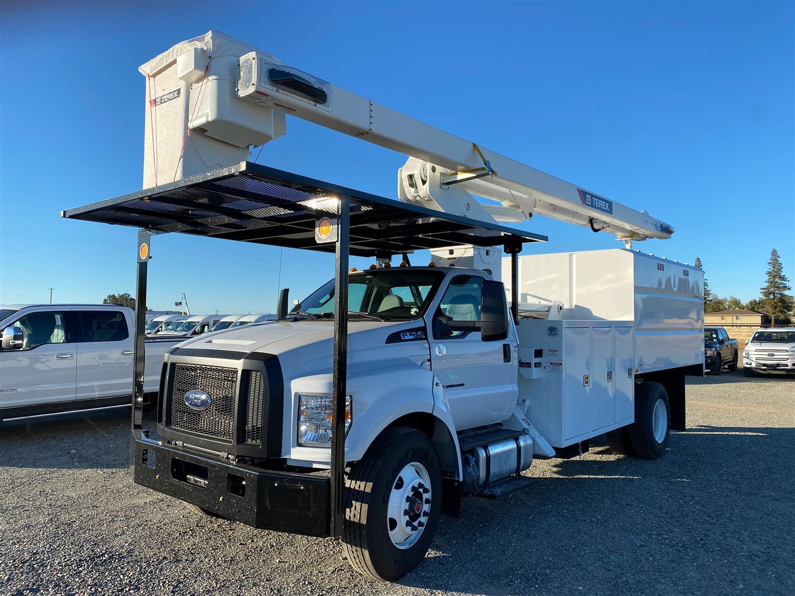 2021 Ford F-750 Regular Cab DRW 4x2, Terex XT PRO 70 Hi-Ranger Insulated Articulating  Over Center Aerial Lift with body.  #80104 - photo 1