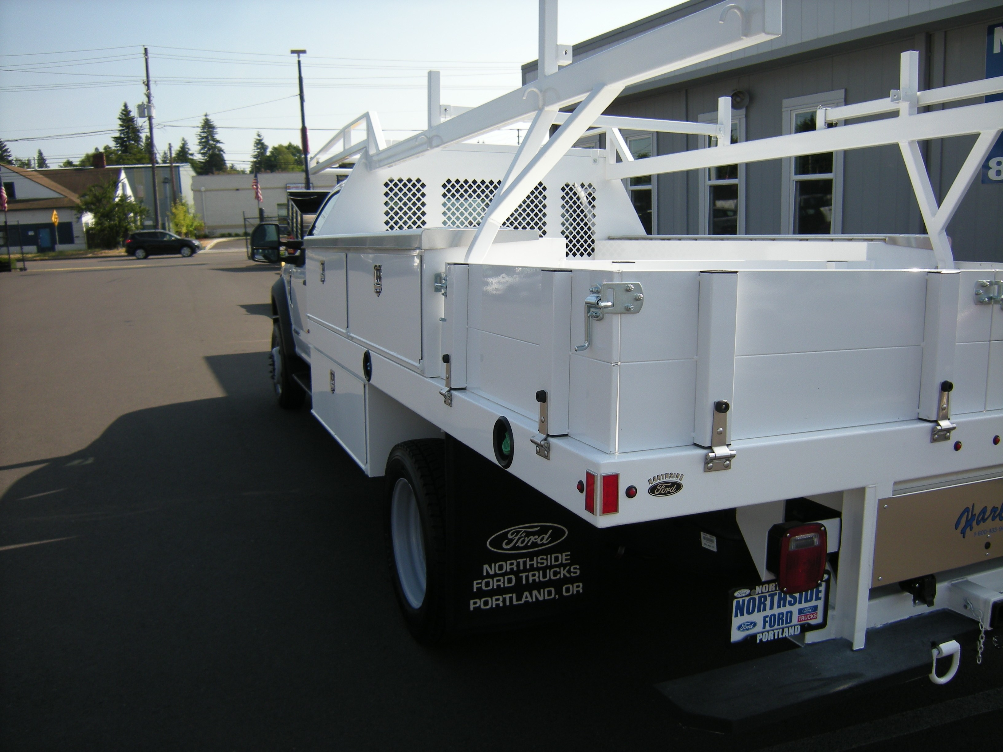 2018 F-450 Super Cab DRW 4x2,  Harbor Contractor Body #4685 - photo 2