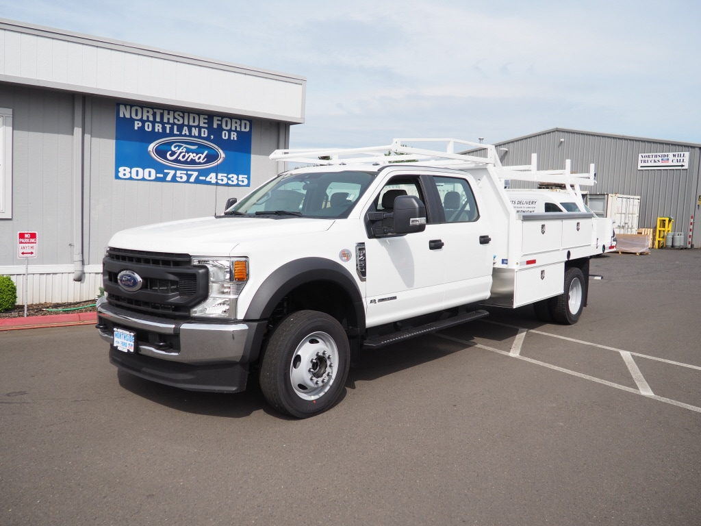 2020 Ford F-450 Crew Cab DRW 4x4, Harbor Contractor Body #4839 - photo 1