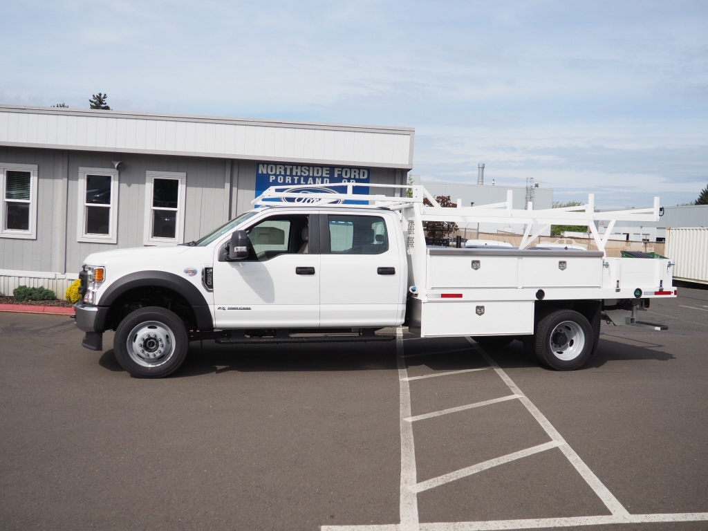 2020 Ford F-450 Crew Cab DRW 4x4, Harbor Standard Contractor Body #4839 - photo 3