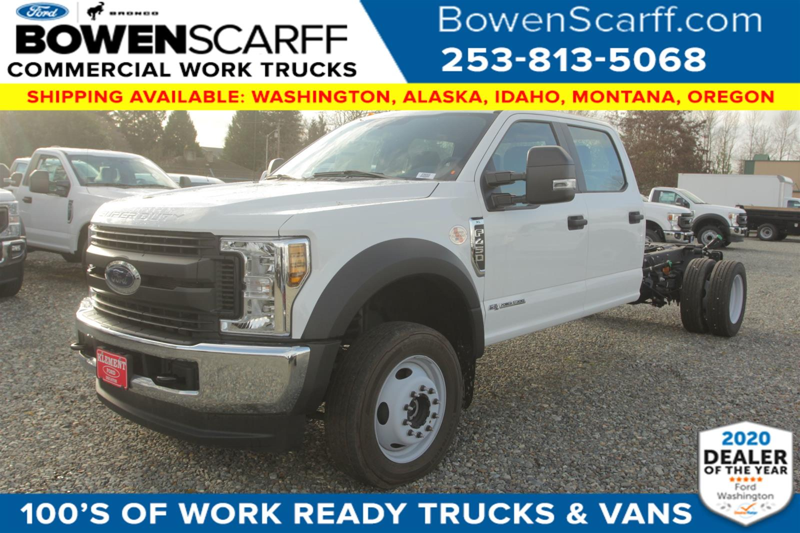 2019 Ford F-450 Crew Cab DRW 4x4, Cab Chassis #E9693 - photo 1