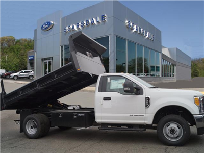 2017 F-350 Regular Cab DRW 4x4, Rugby Eliminator LP Steel Dump Body #T17762 - photo 3