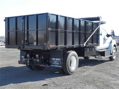 2021 F-750 Crew Cab DRW 4x2,  PJ's Truck Bodies Landscape Dump #C10086 - photo 2