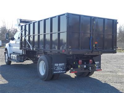 2021 F-750 Crew Cab DRW 4x2,  PJ's Truck Bodies Landscape Dump #C10086 - photo 4