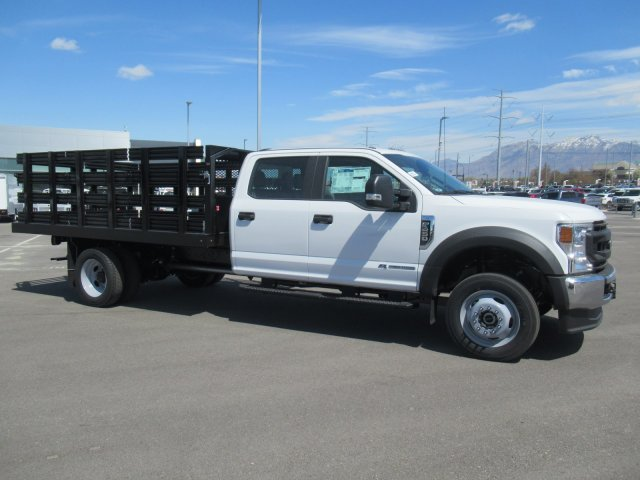 2020 Ford F-450 Crew Cab DRW 4x4, Monroe Stake Bed #LEC56873 - photo 1