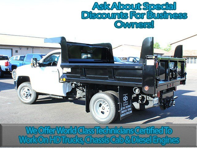 2016 Silverado 3500 Regular Cab 4x4, Rugby Dump Body #16C172T - photo 6
