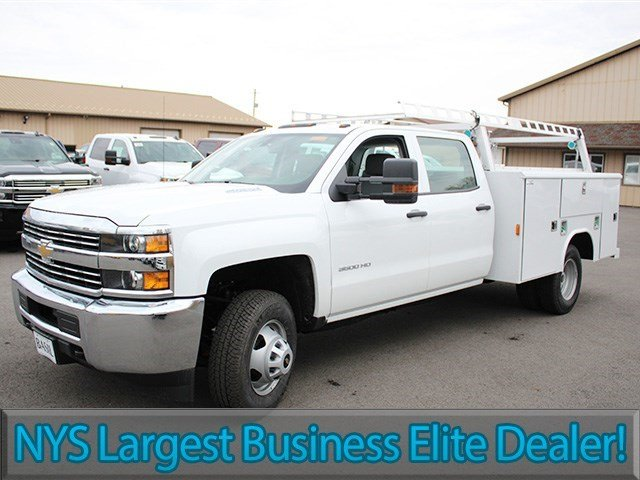 2016 Silverado 3500 Crew Cab 4x4, Reading Service Body #16C233T - photo 3
