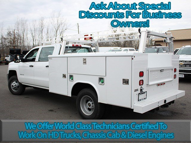 2016 Silverado 3500 Crew Cab 4x4, Reading Service Body #16C233T - photo 6