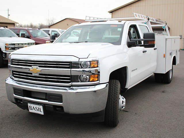 2016 Silverado 3500 Crew Cab 4x4, Reading Service Body #16C233T - photo 7