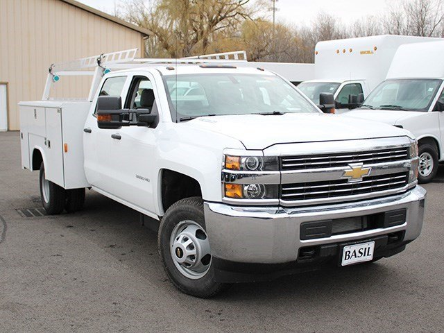 2016 Silverado 3500 Crew Cab 4x4, Reading Service Body #16C233T - photo 8