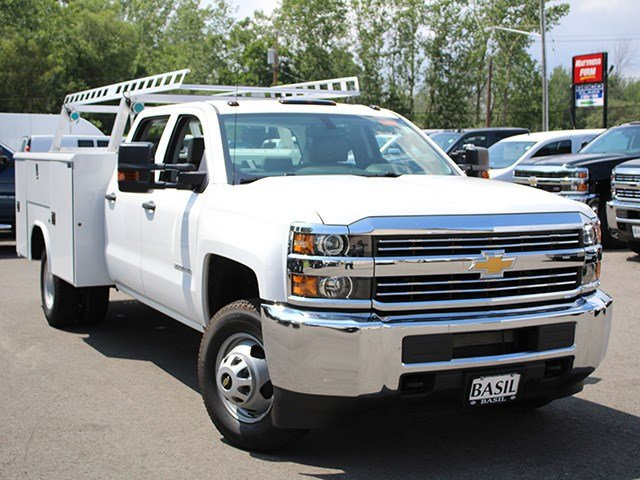 2017 Silverado 3500 Crew Cab DRW 4x4, Reading Service Body #17C100T - photo 10