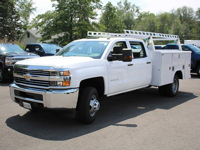 2017 Silverado 3500 Crew Cab DRW 4x4, Reading Service Body #17C100T - photo 4