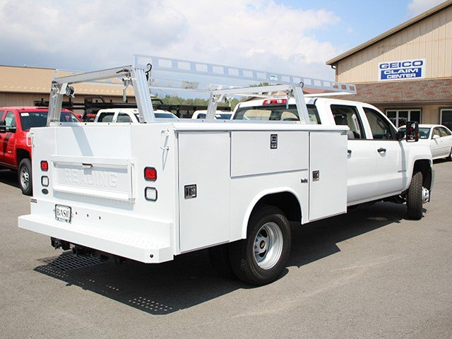 2017 Silverado 3500 Crew Cab DRW 4x4, Reading Service Body #17C100T - photo 2