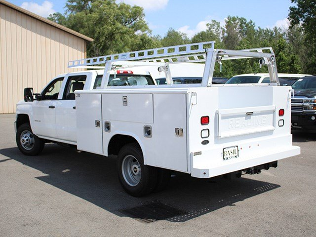 2017 Silverado 3500 Crew Cab DRW 4x4, Reading Service Body #17C100T - photo 8