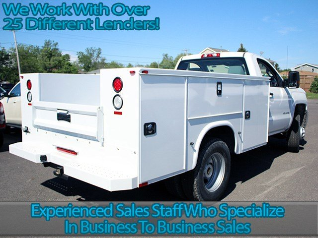 2017 Silverado 3500 Regular Cab 4x4, Knapheide Service Body #17C103T - photo 2