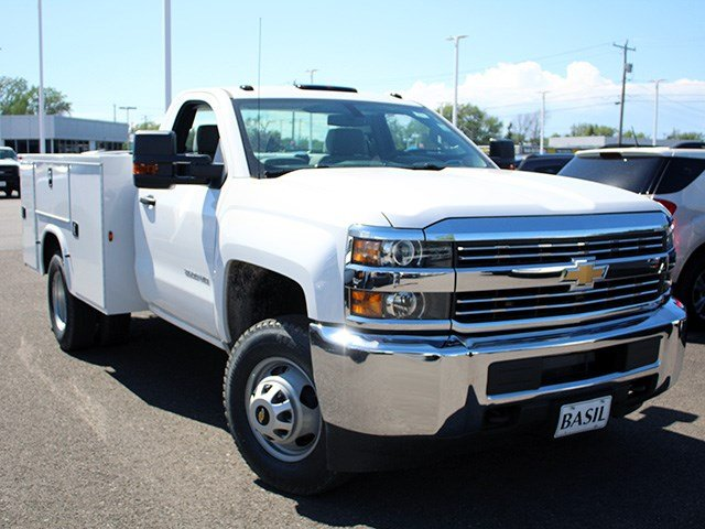 2017 Silverado 3500 Regular Cab 4x4, Knapheide Service Body #17C103T - photo 8