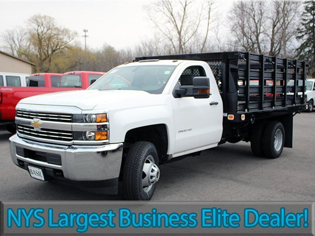 2017 Silverado 3500 Regular Cab 4x4, Knapheide Stake Bed #17C110T - photo 3