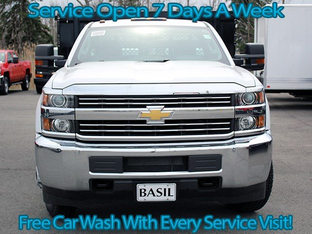 2017 Silverado 3500 Regular Cab 4x4, Knapheide Stake Bed #17C110T - photo 4