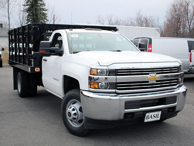 2017 Silverado 3500 Regular Cab 4x4, Knapheide Stake Bed #17C110T - photo 8