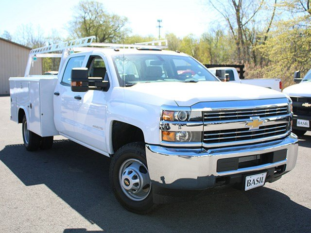 2017 Silverado 3500 Crew Cab 4x4, Reading Service Body #17C151T - photo 8