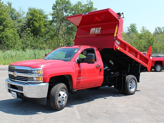 2017 Silverado 3500 Regular Cab DRW 4x4, Rugby Dump Body #17C230T - photo 9