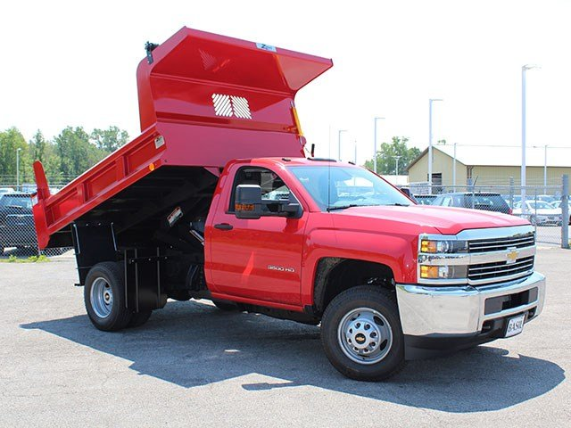 2017 Silverado 3500 Regular Cab DRW 4x4, Rugby Dump Body #17C230T - photo 11