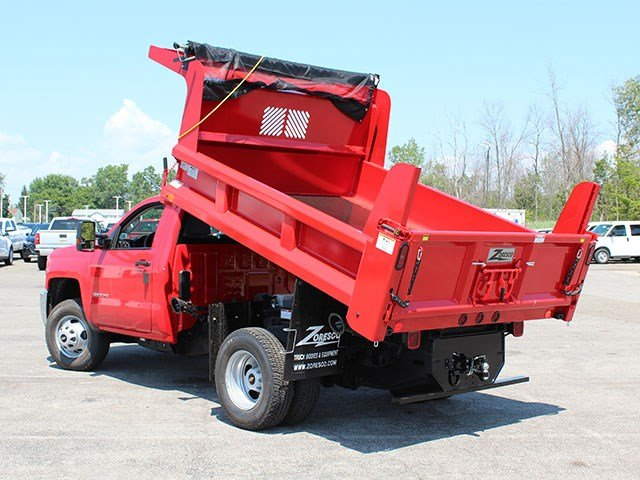 2017 Silverado 3500 Regular Cab DRW 4x4, Rugby Dump Body #17C230T - photo 14