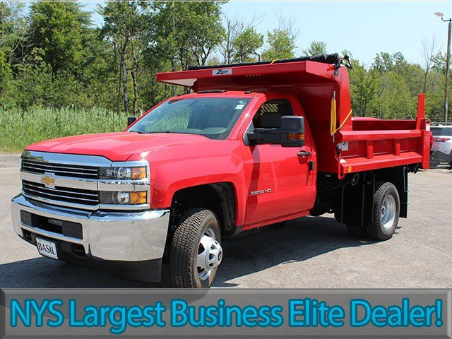 2017 Silverado 3500 Regular Cab DRW 4x4, Rugby Dump Body #17C230T - photo 3