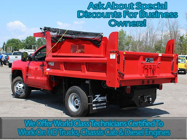 2017 Silverado 3500 Regular Cab DRW 4x4, Rugby Dump Body #17C230T - photo 6