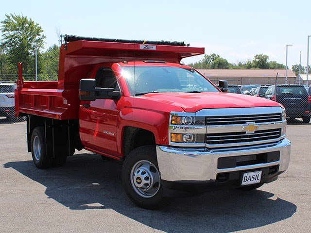 2017 Silverado 3500 Regular Cab DRW 4x4, Rugby Dump Body #17C230T - photo 7