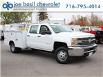 2017 Silverado 3500 Crew Cab DRW 4x4, Reading Service Body #17C256T - photo 1