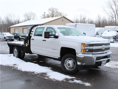 2017 Silverado 3500 Crew Cab DRW 4x4, Reading Redi-Dek Platform Body #17C259T - photo 3