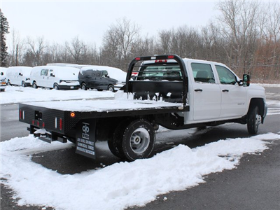 2017 Silverado 3500 Crew Cab DRW 4x4, Reading Redi-Dek Platform Body #17C259T - photo 2