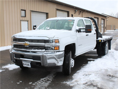 2017 Silverado 3500 Crew Cab DRW 4x4, Reading Redi-Dek Platform Body #17C259T - photo 9
