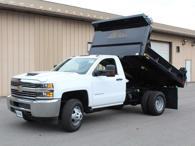 2017 Silverado 3500 Regular Cab DRW 4x4, Crysteel Dump Body #17C260T - photo 12