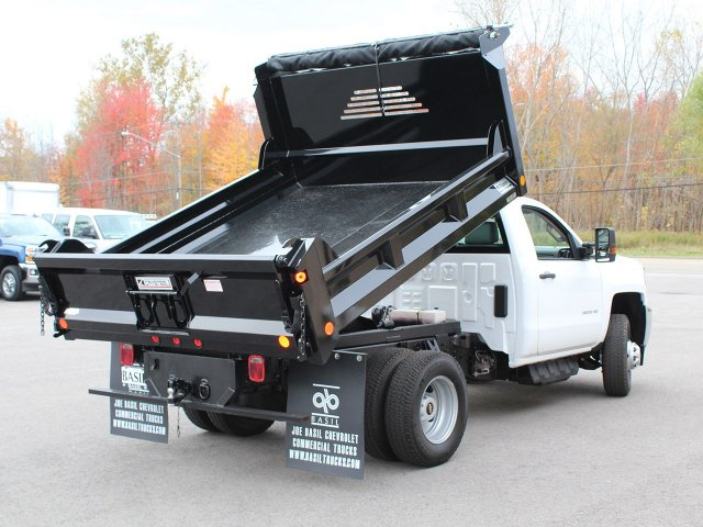2017 Silverado 3500 Regular Cab DRW 4x4, Crysteel Dump Body #17C260T - photo 14