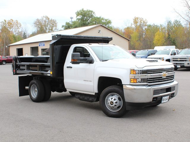 2017 Silverado 3500 Regular Cab DRW 4x4, Crysteel Dump Body #17C260T - photo 3