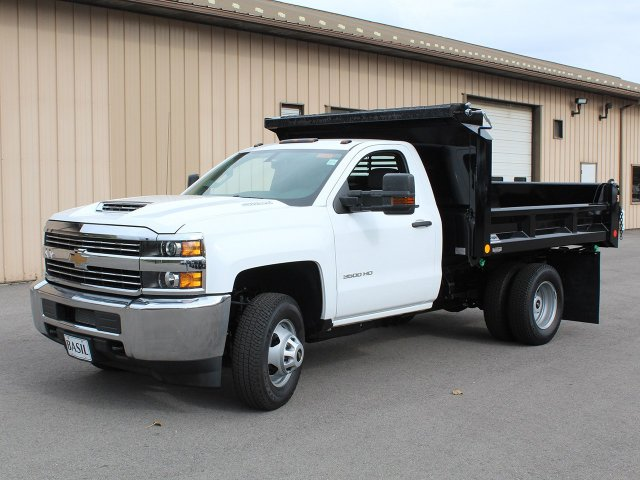 2017 Silverado 3500 Regular Cab DRW 4x4, Crysteel Dump Body #17C260T - photo 4
