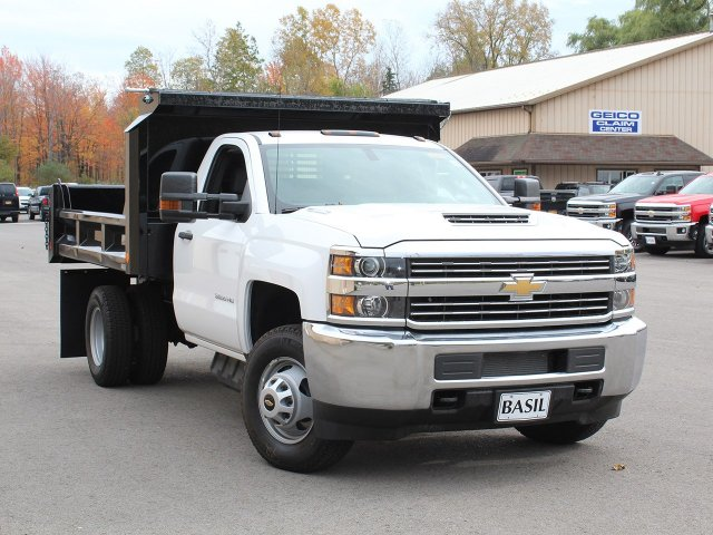 2017 Silverado 3500 Regular Cab DRW 4x4, Crysteel Dump Body #17C260T - photo 9