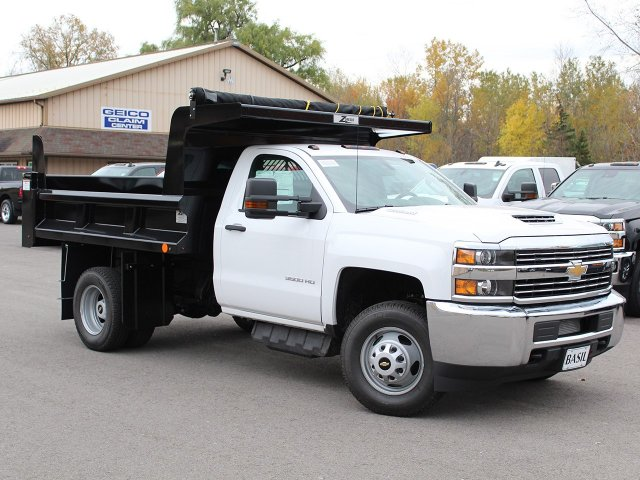 2017 Silverado 3500 Regular Cab DRW 4x4, Rugby Dump Body #17C274T - photo 3